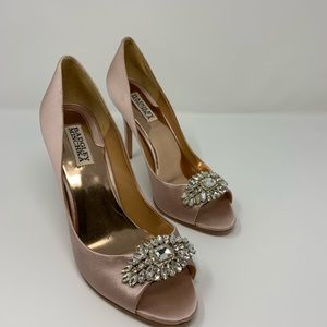 Badgley Mischka Evening Shoes-Rose Color